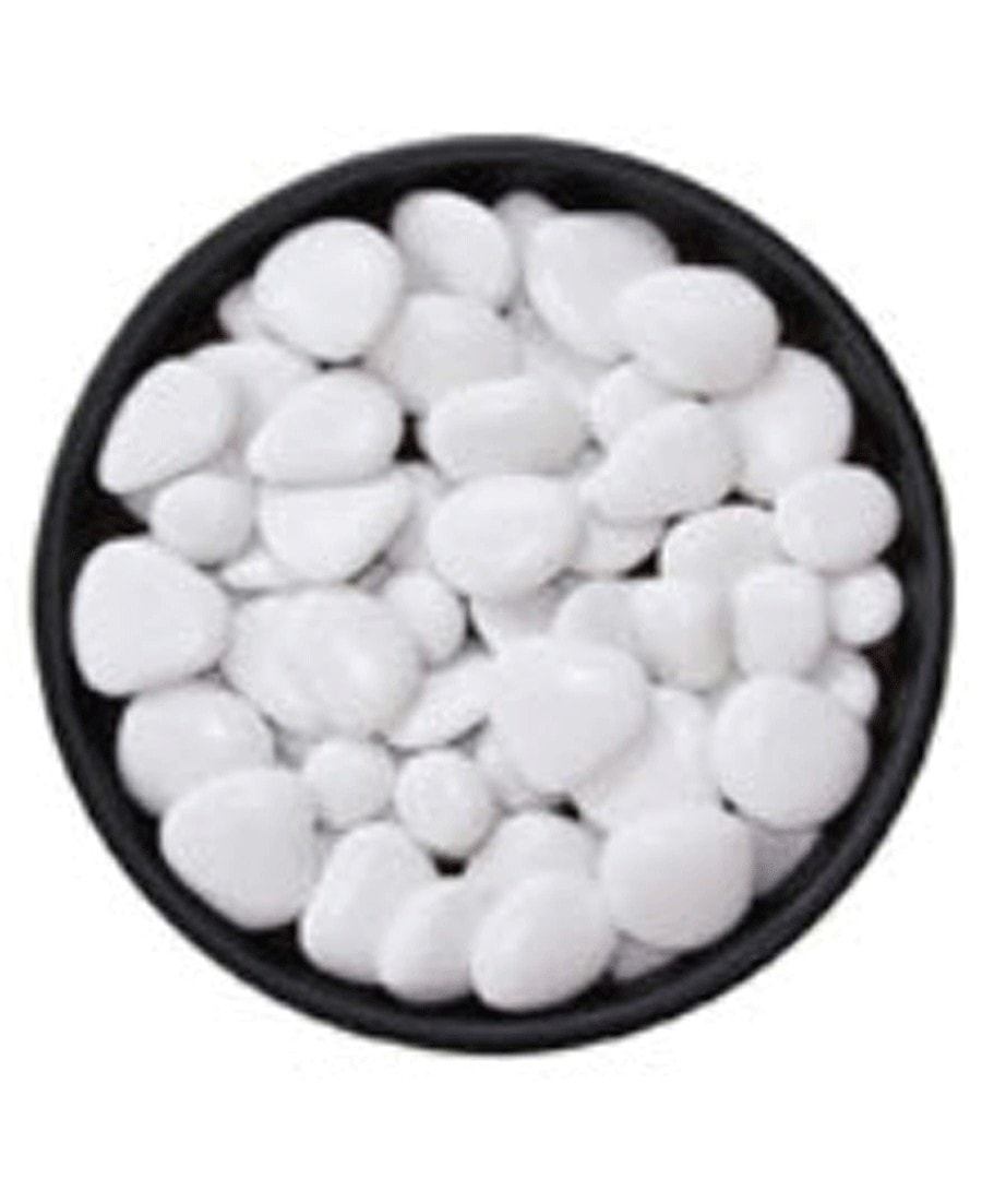 Top dressing Topdressing white poly pebbles