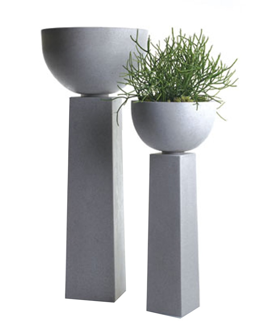 Fiberglass Containers Planters Column Urns with Pedestals